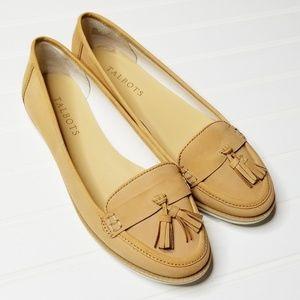 Talbots | Tan Leather Tassel Loafers | 8
